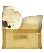 Backside of a used envelope
