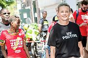 Prinses Mabel loopt samen met aids-activisten mee in een protestmars in het centrum van Amsterdam. De mars is tegelijkertijd de start van AIDS2018, de 22ste editie van het grootste congres ter wereld op het gebied van gezondheid.<br /> <br /> Prinses Mabel loopt samen met aids-activisten mee in een protestmars in het centrum van Amsterdam. De mars is tegelijkertijd de start van AIDS2018, de 22ste editie van het grootste congres ter wereld op het gebied van gezondheid.