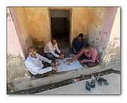 Men playing cards in Chanoud, Rajasthan, India. Nikon D5, 18-35mm @ 18mm, f11, EV+0.67, 1/80sec, ISO500, Aperture priority.
