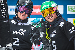 FELICETTI Mirko and PAYER Alexander during FIS alpine snowboard world cup 2019/20 on 18th of January on Rogla Slovenia<br /> Photo by Matic Ritonja / Sportida