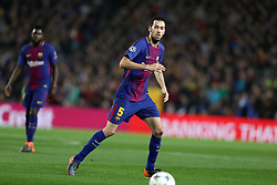 March 14, 2018 - Barcelona, Spain - SERGIO BUSQUETS of FC Barcelona during the UEFA Champions League, round of 16, 2nd leg football match between FC Barcelona and Chelsea FC on March 14, 2018 at Camp Nou stadium in Barcelona, Spain (Credit Image: © Manuel Blondeau via ZUMA Wire)