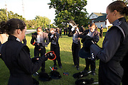 The Oregon Marching Band performs in Rock Falls, Illinois on June 25, 2009.