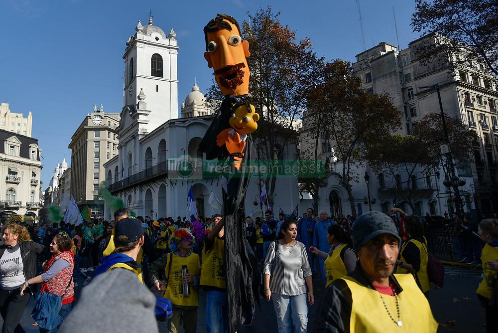 Jun 17, 2017 - Buenos Aires, Argentina - Catholics take part in the Corpus Christi procession near the Plaza de Mayo. (Credit Image: © Anton Velikzhanin via ZUMA Wire)