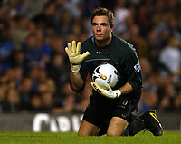 Photo: Chris Ratcliffe.<br />Chelsea v Charlton Athletic. Carling Cup.<br />26/10/2005.<br />Stepehn Anderson in the Charlton goal celebrates victory after saving Robert Huths penalty