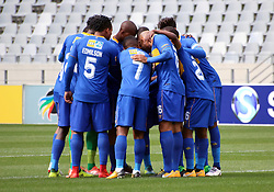 Cape Town City team against Polokwane City in an MTN8 quarter-final match at the Cape Town Stadium on August 12, 2017 in Cape Town, South Africa.