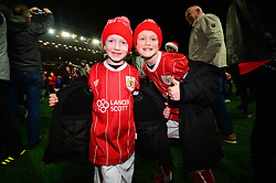 Bristol City fans celebrate beating Manchester United 2-1 in the Carabao Cup - Mandatory by-line: Dougie Allward/JMP - 20/12/2017 - FOOTBALL - Ashton Gate Stadium - Bristol, England - Bristol City v Manchester United - Carabao Cup Quarter Final