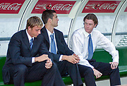 Photo Peter Spurrier<br /> 14/09/2002<br /> 2002 Real Betis vs Real Madrid  - Spanish Liga 1<br /> Real Madrid's sub's left to right Guti Jose María Gutiérrez,   XXX  Steve MacManaman.