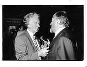 Michael Rose and Edward ( Teddy ) Goldsmith. London. 1991 approx. © Copyright Photograph by Dafydd Jones 66 Stockwell Park Rd. London SW9 0DA Tel 020 7733 0108 www.dafjones.com