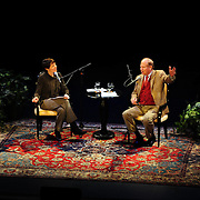 Virginia Prescott of NHPR interviews author Joseph J. Ellis for Writers on a New England Stage at The Music Hall, Portsmouth, NH