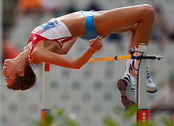 Blanka Vlasic of Croatia competes in the Womens High Jump Qualifying during day four of the 20th European Athletics Championships at the Olympic Stadium on July 30, 2010 in Barcelona, Spain. (Photo by Vid Ponikvar / Sportida)