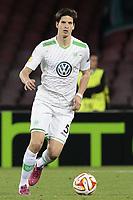 Timm Klose Wolfsburg, <br /> Napoli 23-04-2015 Stadio San Paolo <br /> Football Calcio UEFA Europa League Quarter-finals, second len. Napoli - Wolfsburg.<br /> Foto Cesare Purini / Insidefoto