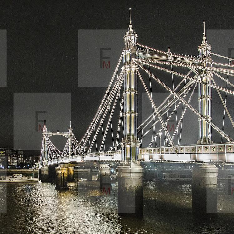 Albert Bridge a Battersea<br /> <br /> Albert Bridge in Battersea