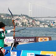 Alejandra VALENCIA (MEX) competes in Archery World Cup Final in Istanbul, Turkey, Sunday, September 25, 2011. (AP Photo/TURKPIX)