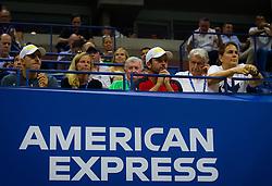 September 4, 2018 - Team Pliskova during her quarter-final match at the 2018 US Open Grand Slam tennis tournament. New York, USA. September 04, 2018. (Credit Image: © AFP7 via ZUMA Wire)