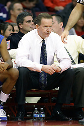 27 January 2008: Coach Kevin McKenna in a game where the Indiana State Sycamores were cut down by the Illinois State Redbirds 65-62 on Doug Collins Court at Redbird Arena in Normal Illinois..