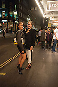 YASMIN LE BON; TALLULAH PINE LE BON, West End opening of RSC production of Julius Caesar at the Noel Coward Theatre on Saint Martin's Lane. After-party  at Salvador and Amanda, Gt. Newport St. London. 15 August 2012.