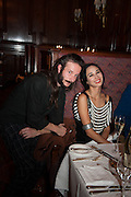 ROYAL PENNEKAUM; HANNAH BHUIYA, Opening of Morris Lewis: Cyprien Gaillard. From Wings to Fins, Sprüth Magers London Grafton St. London. Afterwards dinner at Simpson's-in-the-Strand hosted by Monika Spruth and Philomene Magers.