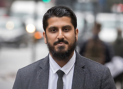 © Licensed to London News Pictures. 25/09/2017. London, UK. Muhammad Rabbani a director of the charity 'Cage' arrives at Westminster Magistrates Court. Mr Rabbani faces trial under the Terrorism Act after refusing to hand over passwords to his laptop at Heathrow airport after returning from a Gulf state where he was investigating a torture case. Photo credit: Peter Macdiarmid/LNP