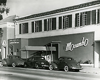 1942 Mocambo Nightclub on Sunset Blvd. in West Hollywood