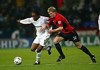 Fotball<br /> Premier League - Bolton v Manchester United<br /> 7. januar 2004<br /> Reebok Stadium - Bolton<br /> Foto: Digitalsport<br /> Norway Only<br /> Manchester Uniteds Darren Fletcher (t.h) og Riccardo Gardner fra Bolton