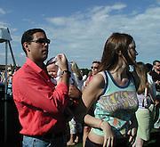 Inez Ribeiro, Husband & Child.Polo Mercedes Benz BridgeHampton To Benefit.Leary Foundation.Hosted By Elizabeth hurley & Dennis Leary.BridgeHampton, New York.July 15, 2001.Photo By Antoine Desert/ CelebrityVibe.com..