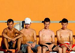 Spectators at Banka Koper Slovenia Open WTA Tour tennis tournament, on July 21, 2010 in Portoroz / Portorose, Slovenia. (Photo by Vid Ponikvar / Sportida)
