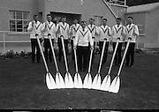 Garda Rowing Club with Gaeltarra Eireann Sweaters.<br /> 30.09.1967