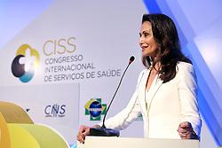 Dra. Waleska Santos durante o CISS - Congresso Internacional de Serviços de Saúde na HOSPITALAR 2013 - 20ª Feira Internacional de Produtos, Equipamentos, Serviços e Tecnologia para Hospitais, Laboratórios, Clínicas e Consultórios, que acontece de 21 a 24 de maio de 2013, no Expo Center Norte, em São Paulo. FOTO: Jefferson Bernardes/Preview.com