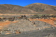 Semi-desert landscape near Pajara, Fuerteventura, Canary Islands, Spain