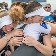 Grace Prendergast New Zealand Womens Coxless Pair is congratulated by friends <br /> <br /> Finals races at the World Championships, Sarasota, Florida, USA Saturday 30 September 2017. Copyright photo © Steve McArthur / www.photosport.nz