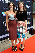 19e editie van de Amsterdam Fashion Week op het Westergasterrein in Amsterdam. AFW -  Premiere Bling Ring gevolgd door de catwalkshow van Claes Iversen<br /> <br /> Op de foto:  Anna Drijver en Hanna Bervoets