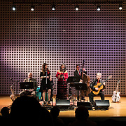 Sol Y Canto performs with special guest artist Alisa Amador '18 of Cambridge, Mass., at the Olin Concert Hall on March 31, 2018.