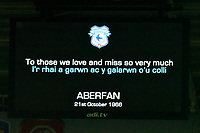 Football - 2020 / 2021 Sky Bet Championship - Cardiff City vs AFC Bournemouth - Cardiff City Stadium		<br /> <br /> the teams observe minutes silence for 1966 Aberfan disaster<br /> in a match played without fans<br /> <br /> COLORSPORT