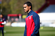 Stevenage player warming up during the EFL Sky Bet League 2 match between Stevenage and Bradford City at the Lamex Stadium, Stevenage, England on 5 April 2021.