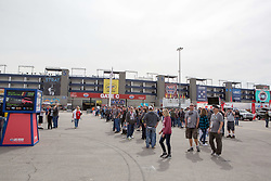 March 1, 2019 - Las Vegas, NV, U.S. - LAS VEGAS, NV - MARCH 01: Fans line up waiting for the gates to open at Las Vegas Motor Speedway prior to the start of practice for the Pennzoil 400 Monster Energy NASCAR Cup Series race on March 01, 2019, at the Las Vegas Motor Speedway in Las Vegas, Nevada (Photo by Matthew Bolt/Icon Sportswire) (Credit Image: © Matthew Bolt/Icon SMI via ZUMA Press)