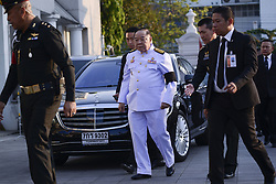 November 3, 2018 - Bangkok, Thailand - Thai deputy prime minister and defence minister Prawit Wongsuwan arrives at the Wat Thepsirin Buddhist temple in funeral ceremony of Vichai Srivaddhanaprabha, late chairman of Leicester City Football Club, in Bangkok, Thailand November 3, 2018. (Credit Image: © Anusak Laowilas/NurPhoto via ZUMA Press)