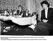 John Stonehouse, Jonathan Burnham, Hugh Grant. Piers Gaveston dinner. Norreys Ave, Oxford. 1980. film 8036f14<br />© Copyright Photograph by Dafydd Jones<br />66 Stockwell Park Rd. London SW9 0DA<br />Tel 0171 733 0108