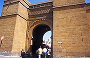 Gateway arch entrance to the souq market in Casablanca, Morocco, north Africa in 1999