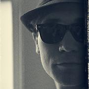 Photo shoot with Trey Maggio as Elwood J. Blues.