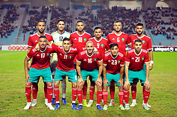 November 20, 2018 - Tunis, Tunisia - Team of Morocco during friendly Match between Tunisia and Morocco already qualified for the African Continental Tournament at the Olympic Stadium in Rades. (Credit Image: © Chokri Mahjoub/ZUMA Wire)