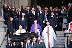 September 1, 2017 - Paris, France - Alain Delon - Cercueil (Credit Image: © Panoramic via ZUMA Press)