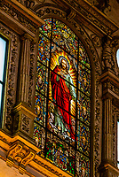 Stained glass, Inside the Mezquita (the Mosque-Cathedral) of Corboba, Cordoba Province,  Spain.