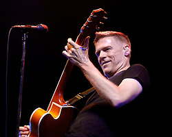 "Bryan Adams plays Doncasters Keepmoat Stadium in South Yorkshire, Bryan played on despite heavy rain proclaiming to the rain soaked crowd ""I can`t believe you have all held out this long""..20 July 2007.Image COPYRIGHT Paul David Drabble"