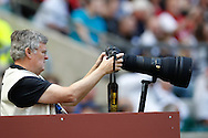 Picture by Andrew Tobin/Focus Images Ltd +44 7710 761829.26/05/2013.Michael Paler at work during the match between England and the Barbarians at Twickenham Stadium, Twickenham.