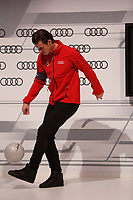 Gareth Bale participates and receives new Audi during the presentation of Real Madrid's new cars made by Audi in Madrid. December 01, 2014. (ALTERPHOTOS/Caro Marin)