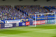 AFC Wimbledon fans on cardboard cutouts behind the goal during the EFL Sky Bet League 1 match between AFC Wimbledon and Peterborough United at Plough Lane, London, United Kingdom on 2 December 2020.