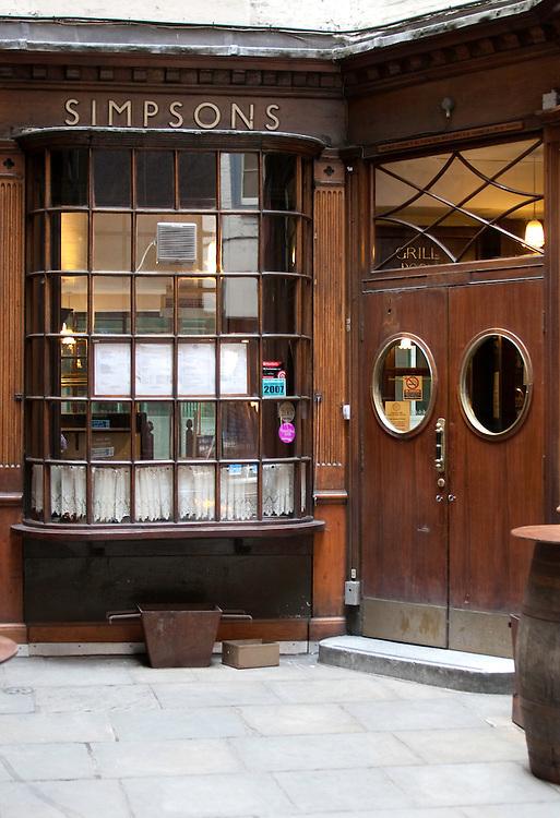Simpsons Chop House, London EC2