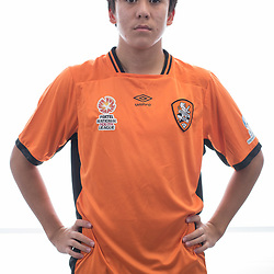 BRISBANE, AUSTRALIA - MARCH 17: Lloyd Cabilan poses for a photo during the Brisbane Roar Youth headshot session at QUT Kelvin Grove on March 17, 2017 in Brisbane, Australia. (Photo by Patrick Kearney/Brisbane Roar)