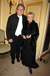 TV presenter GLORIA HUNNIFORD and her husband STEPHEN WAY at the Chain of Hope Ball held at The Dorchester, Park Lane, London on 4th February 2008.<br /><br />NON EXCLUSIVE - WORLD RIGHTS
