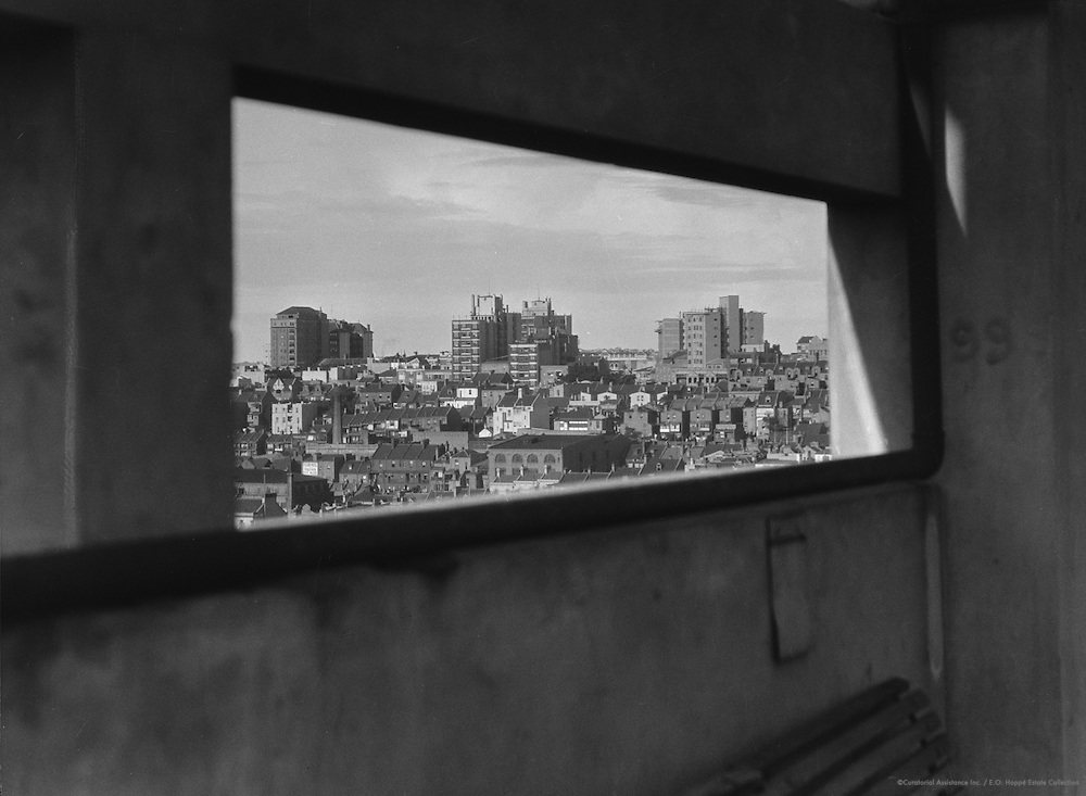 City from a distance, looking through a window, Sydney, Australia, 1930